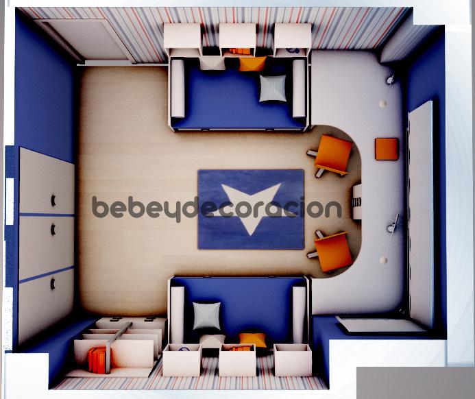 Proyecto2 c blog bebe y decoraci n - Dormitorios juveniles para dos hermanos ...